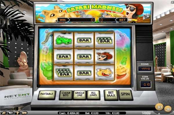 Safari Madness spilleautomat