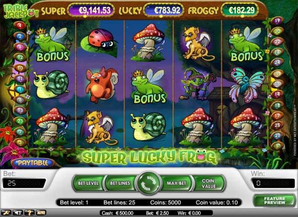 Super Lucky Frog spilleautomat