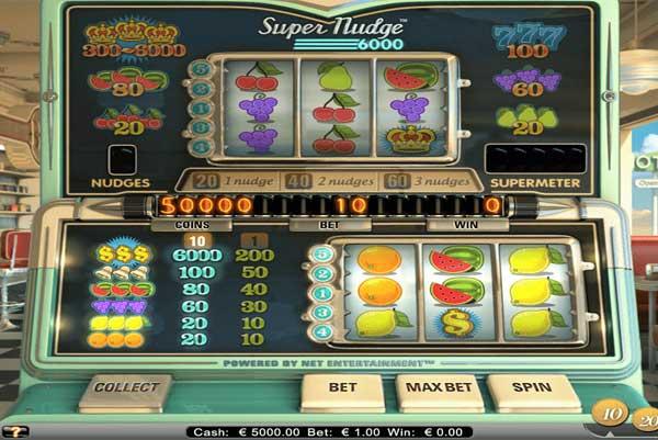 Spilleautomaten Super nudge 6000