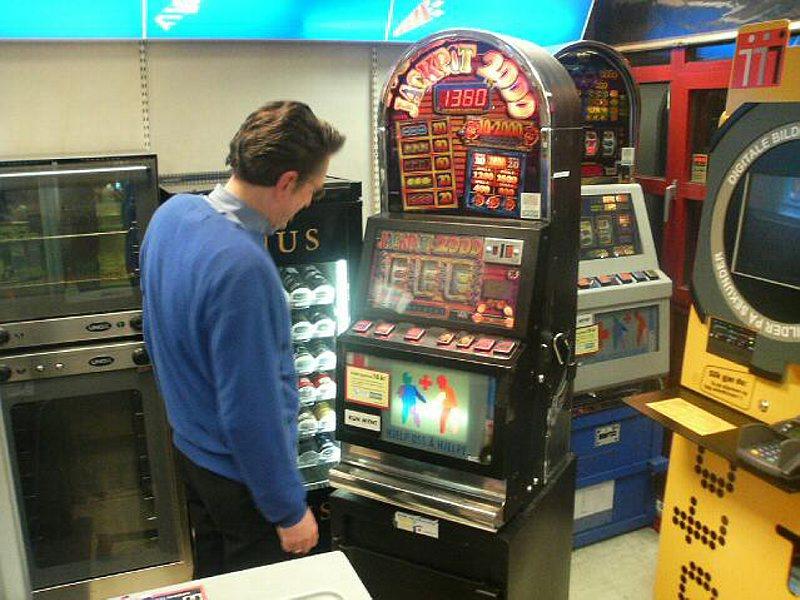 Norgesautomaten Jackpot 2000 i bruk